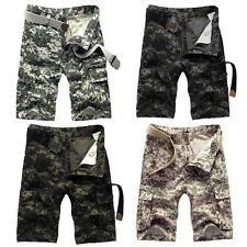 Summer Military Loose Shorts Pants Mens Men's Cargo Camouflage Trousers L3G5