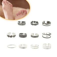 Celebrity Women's Fashion Simple Vintage Toe Ring Adjustable Foot Beach Jewelry