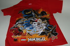 Lego Ninjago S/S T Shirt Masters Legends of Spinjitsu Jay Kai Cole Zane Red NWT