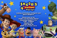 Toy Story Invitation - 20 Custom Photo Birthday Party Invites Buzz Woody Jessie