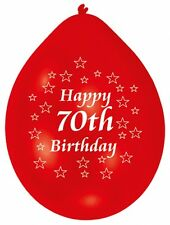 70th Happy Birthday Party Balloons Helium Air Latex Colour CHOOSE YOUR QUANTITY