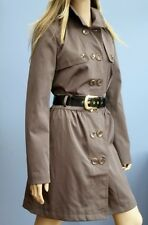 Osley Taupe Brown Mid Length Jacket Coat Mac with Belt Size 12