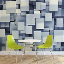 WALL MURAL PHOTO WALLPAPER XXL Abstract Squares Modern Blue (2809WS)