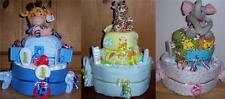 Baby Shower 2 Tier Safari Diaper Cake, Pink, Blue, or Neutral