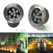 9W LED Bulb Spot Light Outdoor In-ground Garden Flood Light Lamp Waterproof IP67