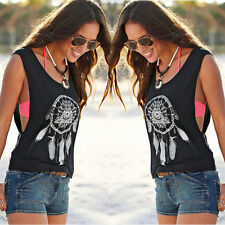 Fashion Women Girl Summer Vest Top Sleeveless Blouse Casual Tank Tops T Shirt AY