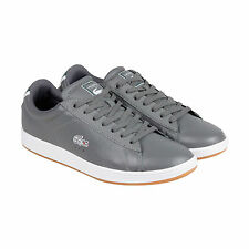 Lacoste Carnaby Dark Grey Leather Sneaker Shoes