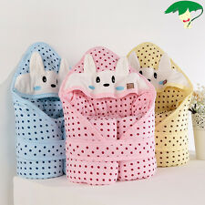 Newborn Baby Cute Polka Dot Rabbit Swaddle Cradle Infant Sleeping Bag Cape Smock