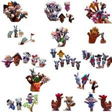 Family Plush Finger Puppet Cloth Doll Baby Kid Educational Hand Animal Toy Story