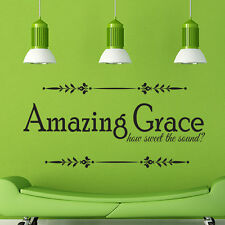 Amazing Grace how QUOTE VINYL WALL DECAL STICKER ART-WORDS HOME DECOR