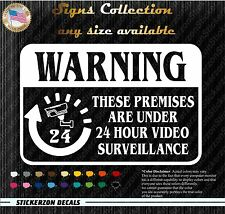 Home CCTV Surveillance Security Camera Video Warning Decal Signs no background