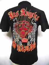 Christian Audigier Ed Hardy Mens Platinum Polo Tiger/Panther S/S Polo Shirt NWT