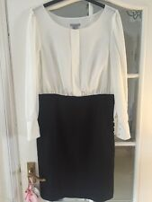 H&M Dress Office Work Chiffon Style Cream Black Size 12/40