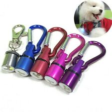 Aluminum Dog Cat Pet Safety Flashing Flash LED Light Collar Tag Waterproof