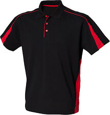 Finden & Hales Mens Short Sleeve Tee Casual Top 3 Button Placket Club Polo Shirt