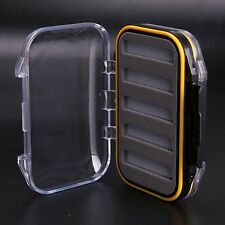 Waterproof Fishing Box Tackle Box Double Side Open Fly Box Clear 4 Sizes Fishing