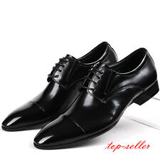 Stylish England Men Leather Cap toe oxford lace up formal Dress Shoes boot New