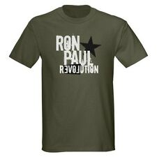 Ron Paul Revolution Military Green T Shirt  - All Sizes Small - 3X Libertarian