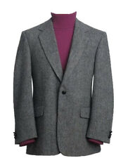 Mens Classic Genuine Scottish Harris Tweed Wool Blazer Jacket Dalmore Fabric