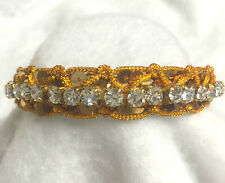 Sugarlicious Pets ™ ~Gold Braids & Sequin ~Crystal Rhinestone Dog Cat Collar USA