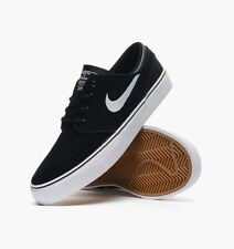 NIKE ® KIDS ZOOM STEFAN JANOSKI GS SUEDE BLACK WHITE SHOES ORIGINAL * NEW