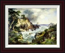 Point Lobos, Monterey, California by Thomas Moran Framed Painting Print