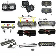 Spot Flood Combo Beam LED Car Work Light Bar Jeep SUV ATV Off-Road 4WD 20W-210W