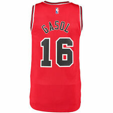 adidas Pau Gasol Chicago Bulls Mens Swingman Performance Jersey-Red