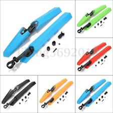 Mountain MTB Bike Bicycle Tyre Tire Front Rear Mudguards Mud Guard Fenders Set