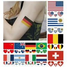 2016 Olympic Games Countries 10Pcs Flag Tattoo Temporary Body Fans Face Stickers