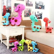 1pc Cute Giraffe Soft Plush Toy Animal Deer Doll Baby Kid Children Party Gift S8
