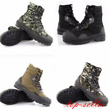mens Fashion Climbing  lace up combat shoes military anti-skidding ankle boots