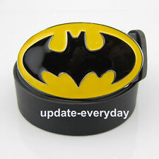 COOL Vintage 3D Superhero Batman Bat Man Leather Men's Women's Buckle Waist Belt
