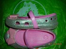 Infant/toddler girls Crocs style Keeley glitter flats