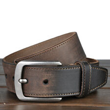 Genuine cow leather Mens work Dress Casual jean Belt Waist Strap brown Black