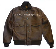 USN 37J1 1st Navy Leather Bomber Flight Jacket Capeskin WWII G-1 / A-1 / A-2
