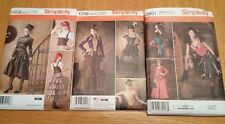 2 LEFT! NEW Old West Saloon Steampunk COSTUME pattern S1558 S2851  Sz 6-12 PICK