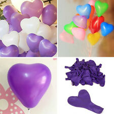 200Pcs Heart-Shaped Latex Balloons Home Room Wedding Party Birthday Decoration