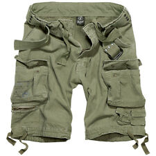 Brandit Savage Vintage Cargo Combat Shorts Summer Hiking Camping Cotton Olive OD