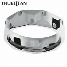 Mens Dimpled Bee Tungsten Band Trueman Carbide Mens Ring Size 8.25-13.25