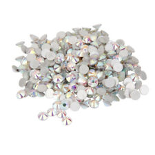 1400pcs Glass Crystal Round Flat Back Rhinestones Gems Acrylic DIY Makimg Crafts