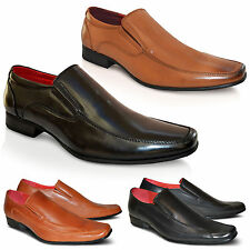 Mens Leather Lined Wedding Italian Party Dress Office Slip On Formal Shoes Size