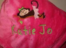 Personalized Monogrammed Baby Blanket - Soft Tahoe Fleece- Girl or Boy