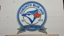 "Toronto Blue Jays ""40th Season"" 3D Baseball Logo - Plain, Magnet or Ornament !!"