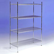 commercial chrome wire racking heavy duty mesh shelving