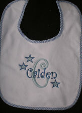 Personalized Monogrammed Bib Absorbant Terry Cloth Velcro Close Toddler