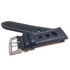 LUX Genuine Italian Leather Rally Style Watch Strap Band
