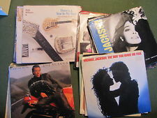 PICTURE SLEEVE & 45 RPM RECORD LOT OF 28