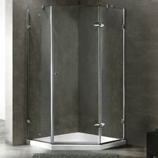 VIGO 36 x 36 Frameless Neo-Angle 3/8-inch Clear Shower Enclosure with Low-Profil