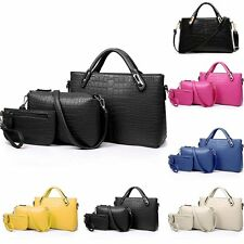 3pcs Fashion Women Handbag Shoulder Bag Leather Messenger Bag Satchel Tote Purse